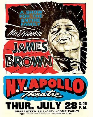 Vintage POSTER  Rare    JAMES BROWN   Concert  Apollo Theater NYC  New York City