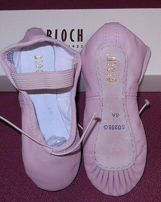 Bloch Pink leather full sole ballet shoes ch/ladies 205G 205L widths