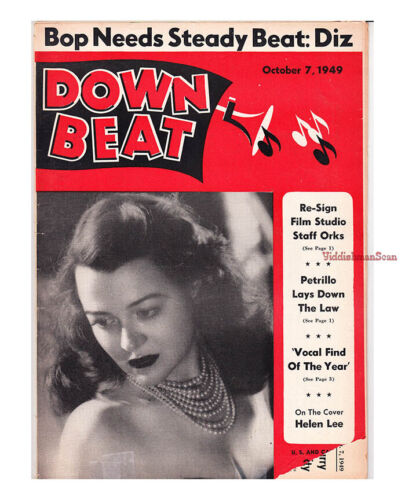 Down Beat 1949 Dizzy Gillespie Charlie Parker The Upstarts Norman Granz Agents
