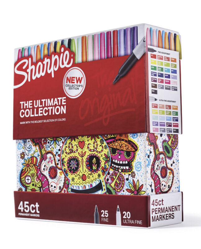 Sharpie Fine & Ultra Fine Permanent Markers Ultimate Collection, 45 count