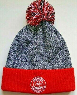 *NEW* Aberdeen FC Rare Colour Prototype Cuff Knit Bobble/Ski/Beanie Hat - AFC