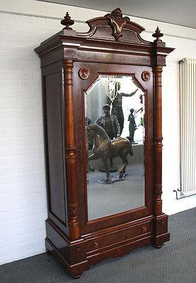 antiker Biedermeier Dielenschrank Spiegelschrank ca. 1870