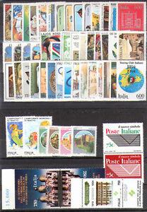 Italia-Repubblica-1994-completa-54-v-foglietto-congiunta-MNH-Italy