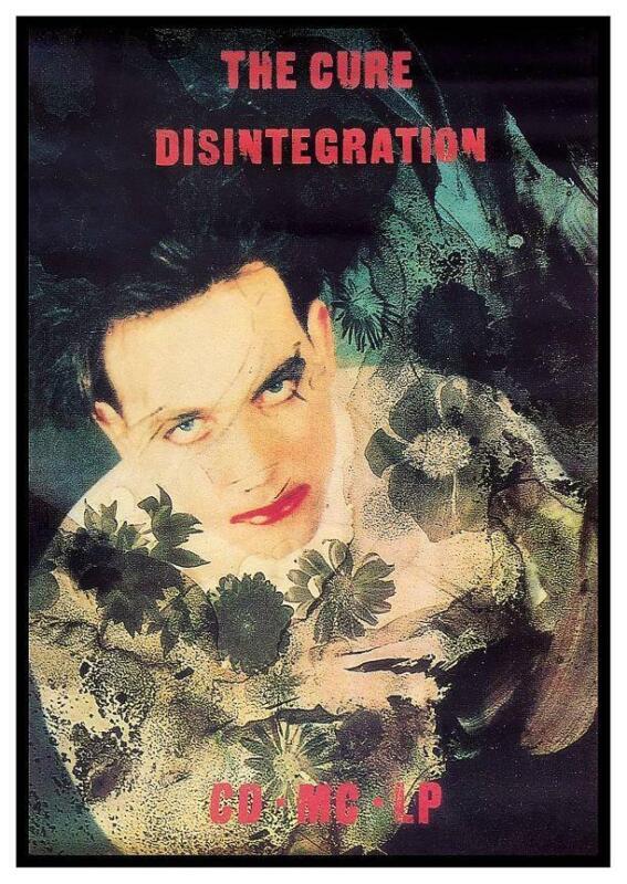the Cure - POSTER - Disintegration  - promo ad -  Album Wall Art Print
