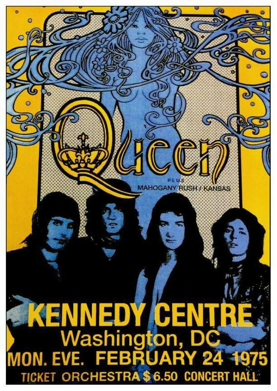 Queen - LARGE POSTER - Live 75