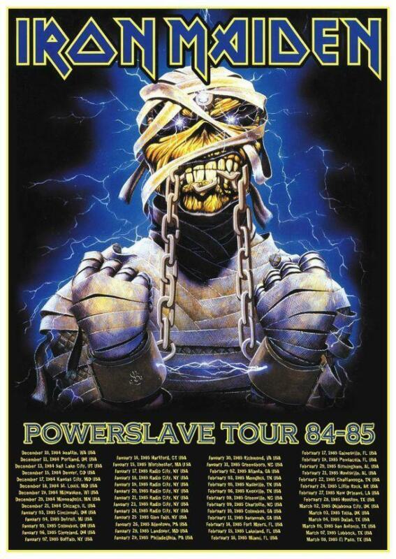 "Iron Maiden - 24"" POSTER Powerslave Tour EDDIE Heavy Metal print - AMAZING IMAGE"
