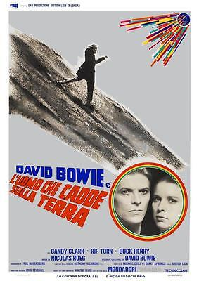 David Bowie *LARGE POSTER*  the Man Who Fell To Earth - AMAZING 70's PIC ITALIAN