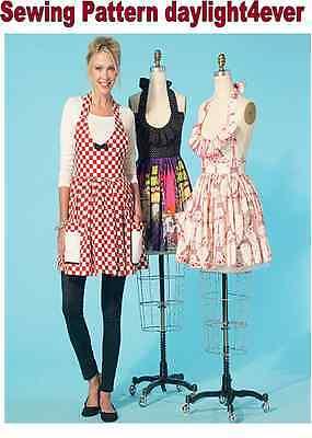 Women Apron Ruffles & Pockets Sewing Pattern 7305 McCall's New Size S-XL 8-22 #r