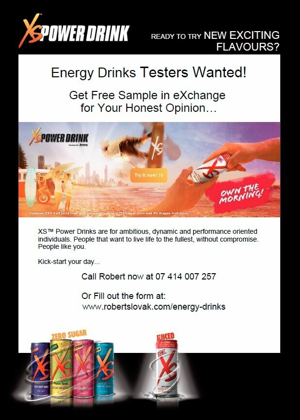 Energy Drinks Testers Wanted! [Get FREE Sample in Exchange for Your Honest