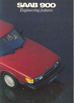 1986 Saab 900 & Turbo Engineering Features Brochure x6527-YBFRWK