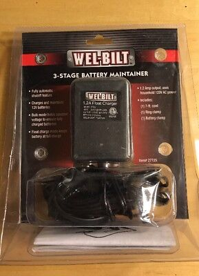 (Well-Bilt 3-Stage Float Battery Charger & Maintainer 1.2 Amp, 12.5 Volts)