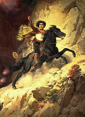 Joaquin Murieta  by Charles C Nahl  Giclee Canvas Print Repro