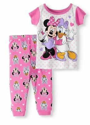 Disney Baby Pajamas (NEW DISNEY BABY Girls' Minnie Mouse & Daisy Duck 2pc Short Sleeve)