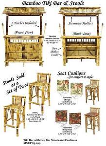 NEW -- 30% OFF Until July 23, 2016-- NEW Floor Model Bamboo Tiki Bar & Stools . Regular $2,099 NOW $1,469.30+hst
