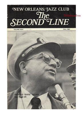 THE SECOND LINE 1983 Robert Hinle Sweet Sixteen Jazz Band Harold Duke Dejan