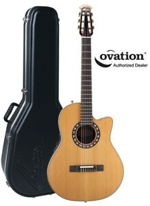 Cherche / Looking Ovation classic guitar / case