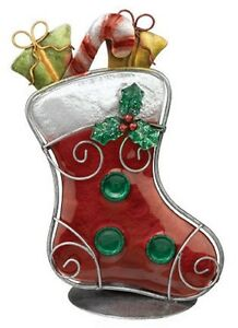 Christmas-Stocking-Tea-Light-Candle-Holder-Metal-and-Glass