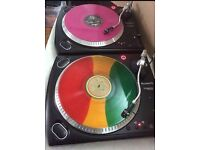 2x numark 1625 turntables pro direct drive