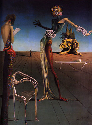Woman with a Head of Roses  by Dali   Giclee Canvas Print (Woman With A Head Of Roses Dali)