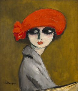The Corn Poppy  by Kees van Dongen  Giclee Canvas Print Repro