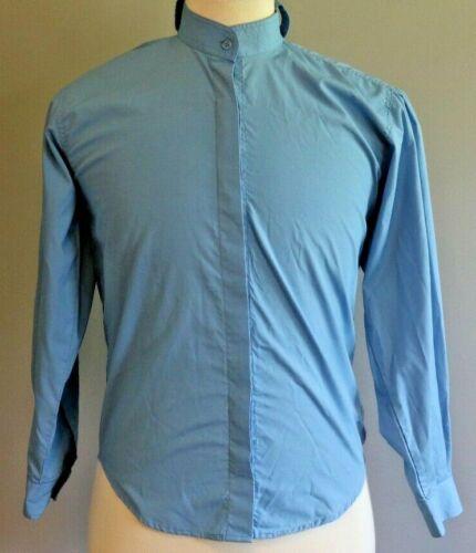 Comfort Riders Girls Riding Shirt Short Sleeve Solid Blue Size 14 NO CAT COLLAR
