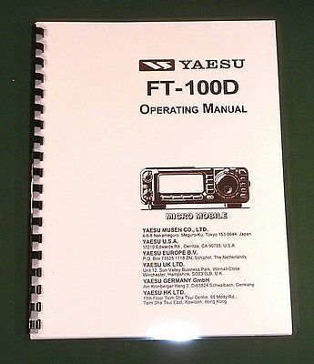 Used, Yaesu FT-100D Instruction Manual - Premium Card Stock Covers & 32 LB Paper! for sale  Lacey