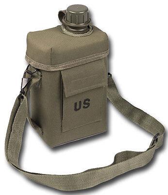 Patrol Canteen 2L m. Hülle und Gurt oliv, Feldflasche,Outdoor,Camping,Army -NEU-