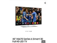 40 inch Samsung Smart 3D Full HD 1080p LED TV • FREE delivery