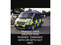 WANTED TRANSITS 2.0 2.4 2.5 ALL WANTED