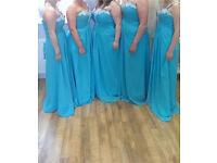 4 Blue bridesmaid dresses brand new £20 each