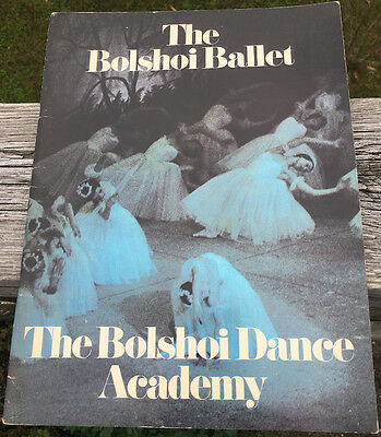 THE BOLSHOI BALLET  THE BOLSHOI DANCE ACADEMY  1973 SEASON PROGRAM for sale  Shipping to India