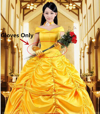 Adult Halloween Princess Belle Costume Beauty and The Beast Fancy Gloves Only](Belle Halloween Costume Adults)