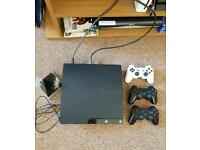 Sony Ps3 250GB slim edition for sale. 3 controllers and 29 games