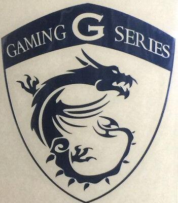 MSI Gaming G Series Silver Sticker Logo Badge 7 8 10 PC Lapt