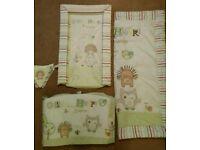 Nursery bundle Olive and Henri unisex cot bedding bundle