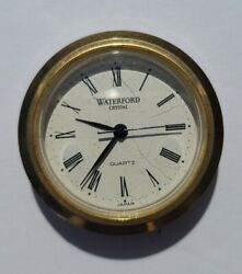 "Waterford Crystal 1.5"" Replacement Clock in Housing Full Japan Movement"