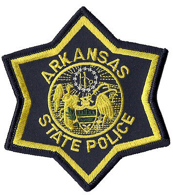 Arkansas State Police Shoulder Patch 4 3/4 inches tall by 3 3/4 inches wide NEW