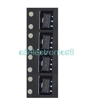 20pcs 78l05 L78l05 7805 Voltage Regulator 5v 100ma Sot-89 Smd