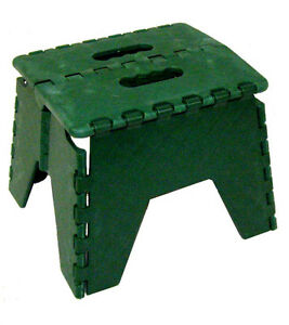 Green Folding Plastic Stepstool 300 Lb Pound Capacity Step