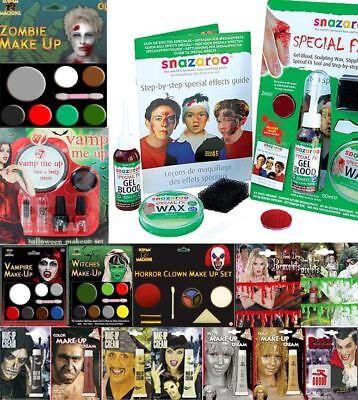 HIGH QUALITY HALOWEEN MAKEUP SET FANCEY DRESS FAKE BLOOD CHOKER COSTUME - Haloween Makeup