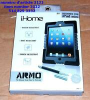 ihome Armo BLACK Case for iPad Mini  with 2 in 1 Stylus Pen