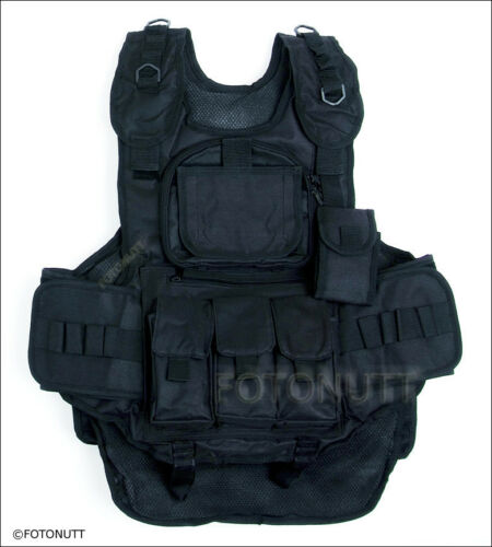 BLACK 4+1 Scenario WOODSBALL TACTICAL X Paintball VEST GEN #1