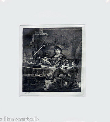 """JAN UTENBOGAERT, THE GOLD WEIGHER"" After Rembrandt (B-281) By Amand-Durand"