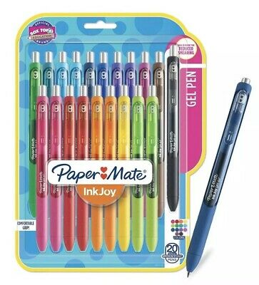 Paper Mate Inkjoy Gel Pens Medium Point Assorted Colors 20 Count 1951718