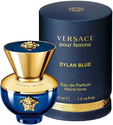 VERSACE POUR FEMME DYLAN BLUE 30ML EAU DE PARFUM SPRAY BRAND NEW & SEALED