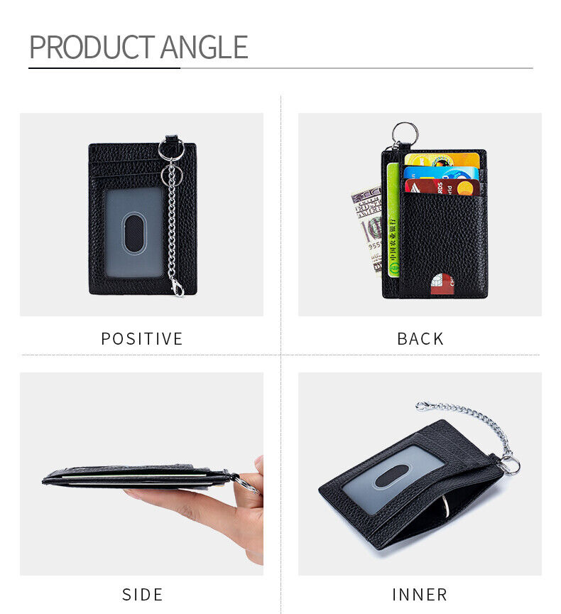 Slim RFID Blocking Card Holder Minimalist Leather Front Pocket Wallet for Women Clothing, Shoes & Accessories