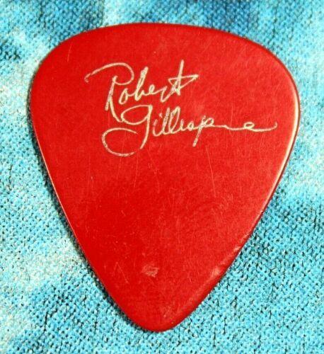 ROBERT GILLESPIE // Concert Tour Guitar Pick // Red/Silver Signature