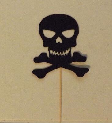 Skull N Cross Bones Cupcake Toppers Lot of 12!](Cross Cupcake Toppers)