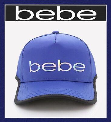 bebe CONTRAST EDGE BALL CAP HAT ADJUSTABLE COLOR ROYAL BLUE MSRP $39 Bebe Cap