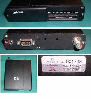 Macom Pyramid Svr-200m Uhf Transceiver Two Way Radio